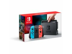 Nintendo Switch With Blue and Red Joy Con